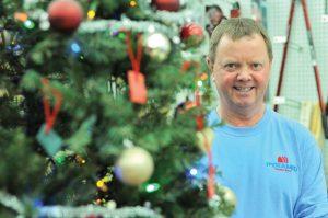 Creston's Pyramid Building Supplies 25th Christmas wish tree