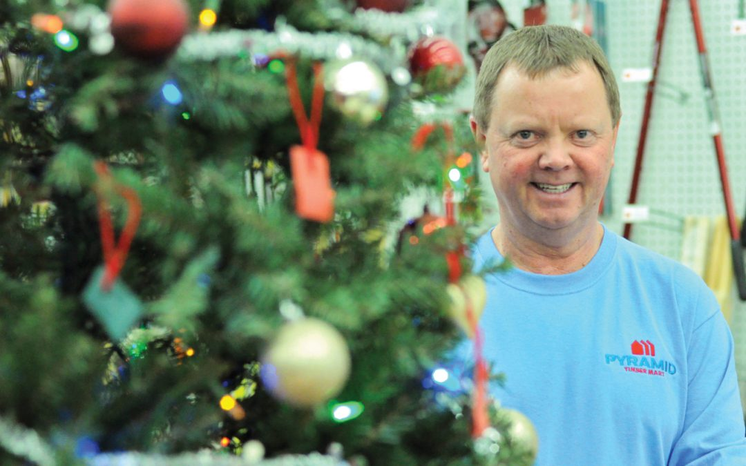 Creston's Pyramid Building Supplies celebrating 25th Christmas Wishing Tree
