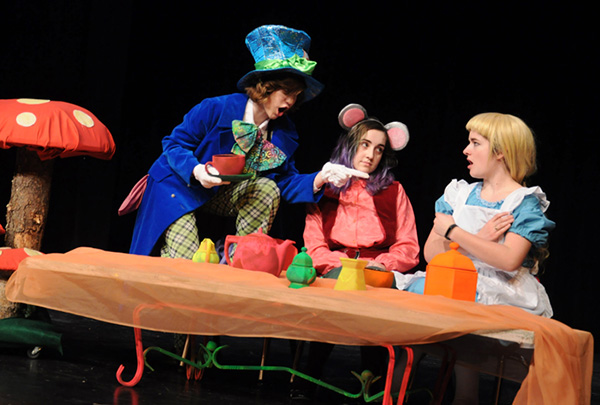 Creston high school drama club presenting Alice in Wonderland